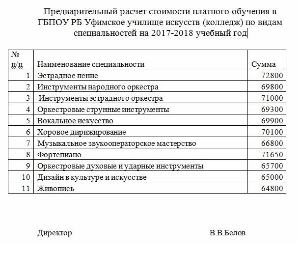 расчет стоимости 17-18